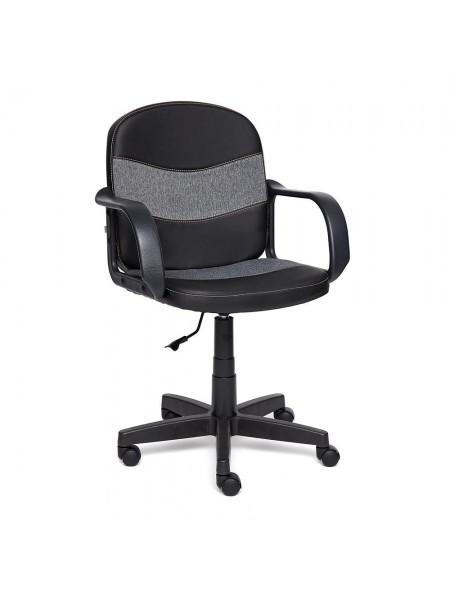 Кресло BAGGI кож/зам+ткань, черный+серый, 36-6/207