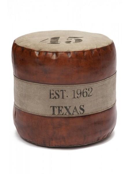 Пуф Secret De Maison TEXAS ( mod. M-8030 ) кожа буйвола / ткань хлопок, 46 х 46 х 46
