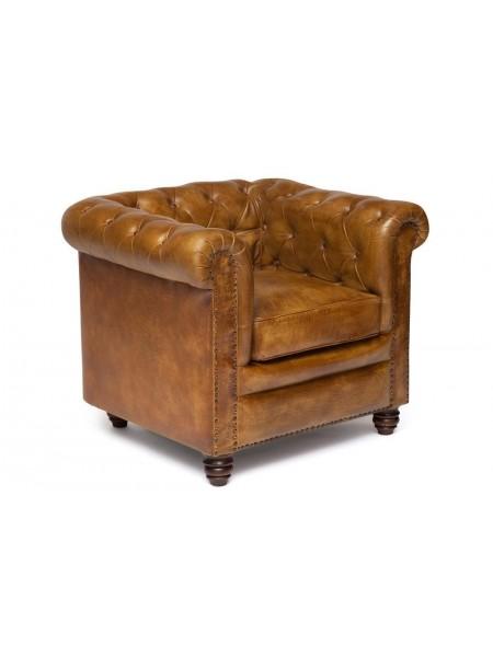 Кресло Secret De Maison CHESTER ( mod. 1157B ) кожа буйвола, 73х90х80см, Античный светлый