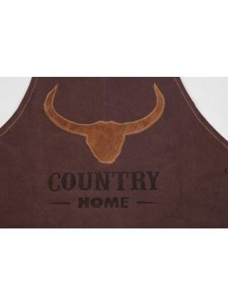 Фартук барбекю Secret De Maison COUNTRY MAN ( mod. M-14331 ) кожа буйвола / ткань, 60*89, коричневый