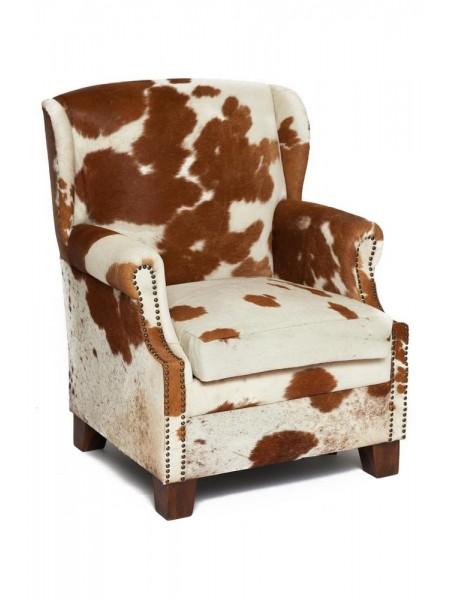 Кресло Secret De Maison FENIX ( mod. M-201S ) шкура буйвола, 102 х81х83см, коричнево-белый