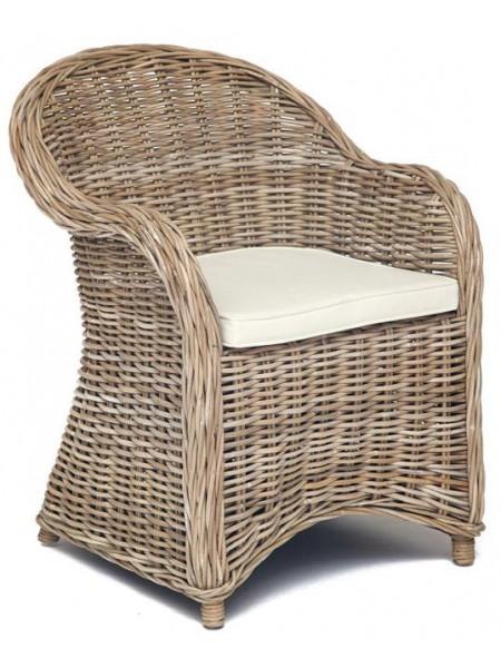 Кресло Secret De Maison MAISON (c подушкой) натуральный ротанг, 63*66*85 см, натуральный серый/natural grey