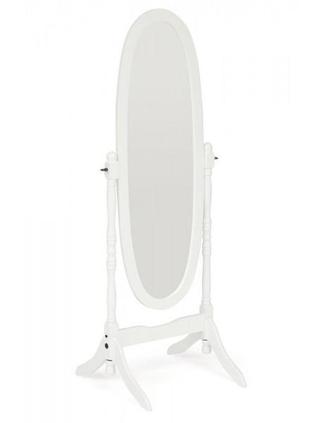 Зеркало NY-4001 дерево, 59*49,5*150см, white (белый)
