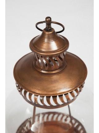 Фонарь для свечей Secret De Maison NAVY ( mod. M-13611 ) металл/стекло, 25*25*40, античная медь