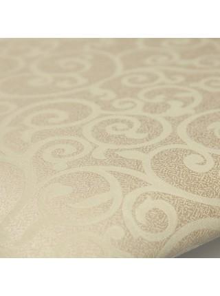 Стул - Афродита/ Aphrodite дерево гевея, 46х54х99см, Ivory white, ткань кремовая с рисунком (3321)