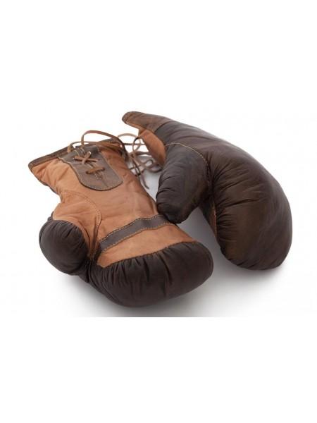 Боксерские перчатки Secret De Maison PUNCH ( mod. M-1202G ) кожа буйвола, размер L, коричневый