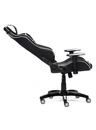 Кресло iBat кож/зам, черный/белый