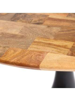 Стол обеденный Secret De Maison LA REDOUTE дерево манго, D120х76см, Black (черный)/ Natural (натуральный)
