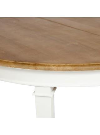 Стол обеденный Secret De Maison XXL дерево манго, D130-250х130х77см, White (Белый) / Natural (натуральный)