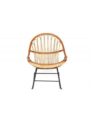 Кресло-качалка Secret De Maison Petunia (mod. 01 5088 RC SP KD/1-1 ) натуральный ротанг/металл, 80х61х80см, светлый мед/черный