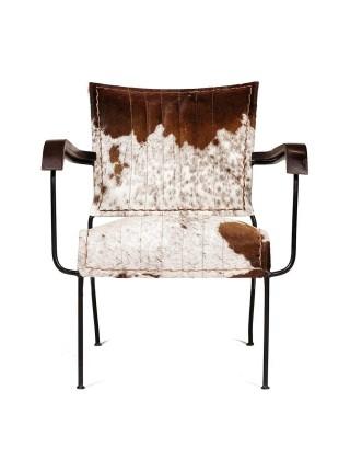Кресло Secret De Maison MAJOR RODEO ( mod. M-12887 ) металл/шкура буйвола, 66х64х74см, коричневый