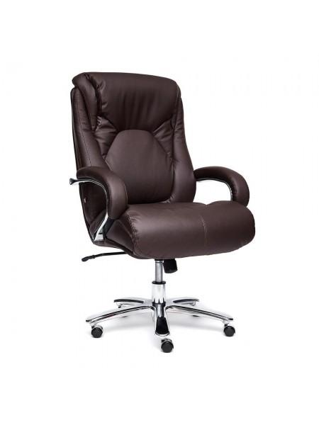 Кресло MAX кожа/кож/зам, коричневый