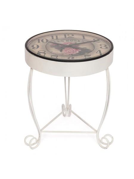 Стол-часы Secret De Maison ROSETTA ( mod. IT-001) металл, 51х51х71см, butter white (слоновая кость)