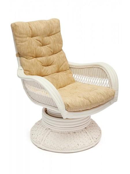 "Кресло-качалка ""ANDREA Relax Medium"" /с подушкой/ TCH White"