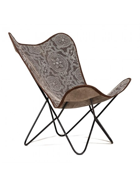 Кресло Secret De Maison NEWTON ( mod. М-17572) металл/ткань, 75х75х90см, черный