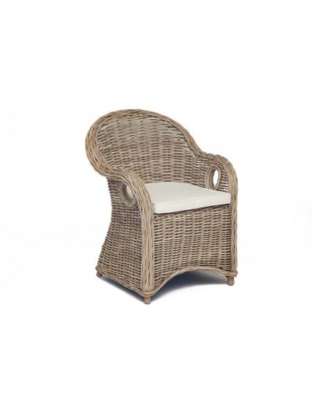 Кресло Secret De Maison MAISONET c подушкой натуральный ротанг, 63*66*85 см, натуральный серый/natural grey