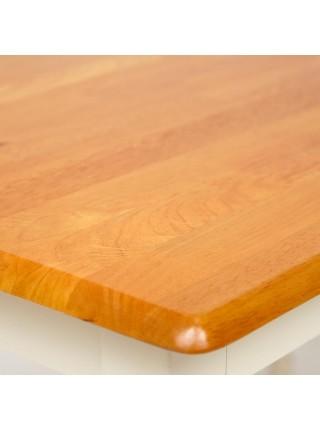 Стол обеденный COUNTRY (mod. TB3048-01) дерево гевея, 120х75х75см, oak/ivory white ( дуб/слоновая кость)
