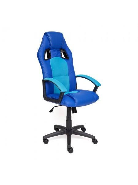 Кресло DRIVER кож/зам/ткань, синий/голубой, 36-39/23
