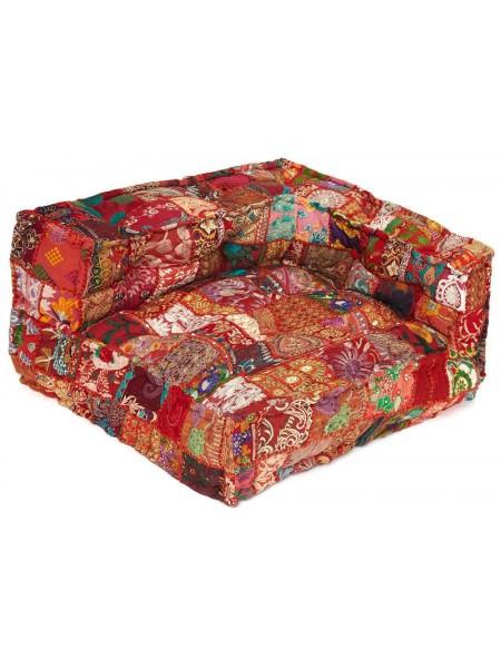 Модуль мягкий угловой Secret De Maison GIPSY (mod. 10201) cotton patchwork, 60х80х43см, этнический красный