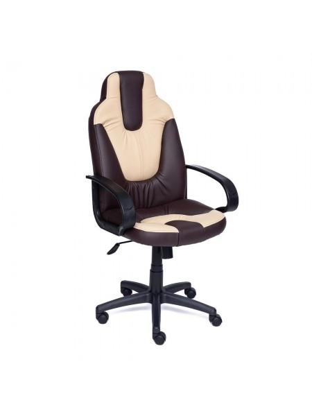 Кресло NEO (1) кож/зам, коричневый/бежевый, 36-36/36-34