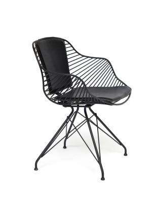 """Кресло """"Topkapi"""" (Mod.01) металл, экокожа, 62*57*75, Black (черный)"""