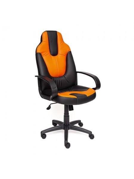 Кресло NEO (1) кож/зам, черный/оранжевый, 36-6/14-43