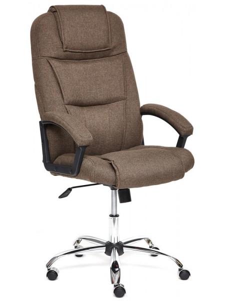 Кресло BERGAMO (хром) ткань, коричневый, 3М7-147