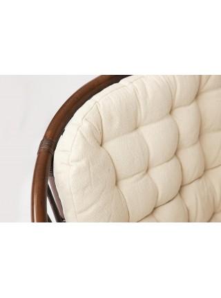 Комплект для отдыха TURKEY (стол круглый (со стеклом)+2 кресла + диван) ротанг, кр:70х65х78см, дв:120х65х78см, ст:D50х56,5см, coco brown (коричневый кокос)