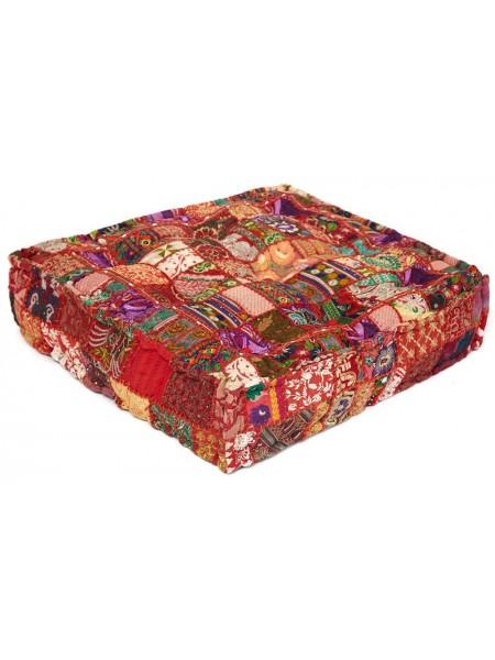 Модуль мягкий Secret De Maison GIPSY (mod. 10206) cotton patchwork, 80х80х20см, этнический красный