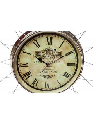 Часы настенные Secret De Maison WHEEL ( mod. 47578 ) алюминиевый сплав/резина, 70*5*70см, черный/никель