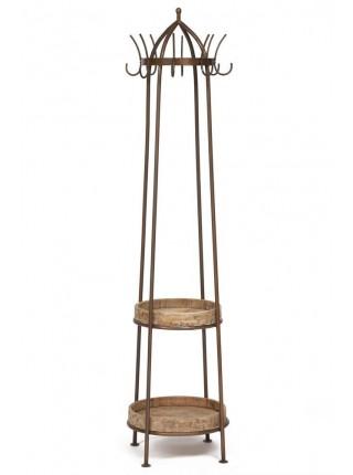 Вешалка Secret De Maison COZY ( mod. 14526 ) металл/дерево манго, 43*43*185, античная медь/натуральный