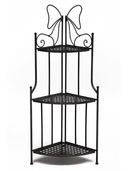 Этажерка угловая Secret De Maison 003 стальной сплав, 36х36х120см, черный