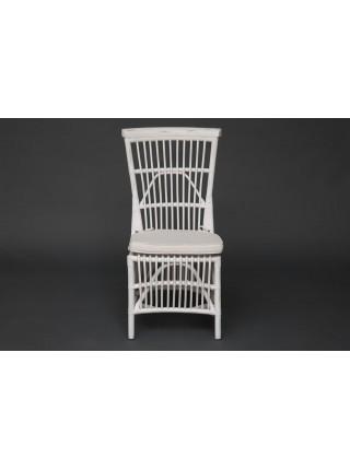 Стул Secret De Maison RIVIERA с подушкой натуральный ротанг, 101х53х61см, белый+натуральный дистресс