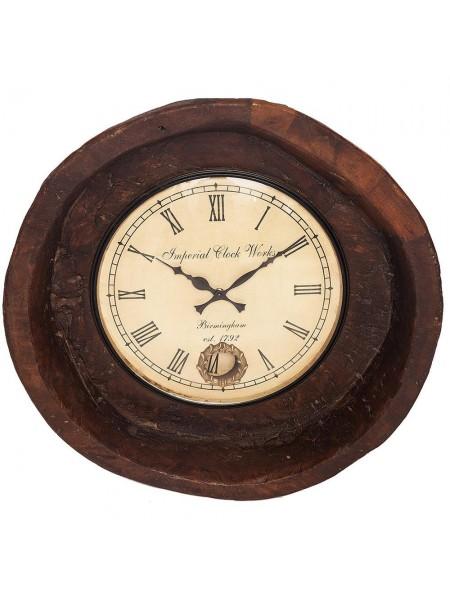 Часы Secret De Maison PLATE ( mod. FS-1371) дерево манго, 53х15х53см, античный коричневый