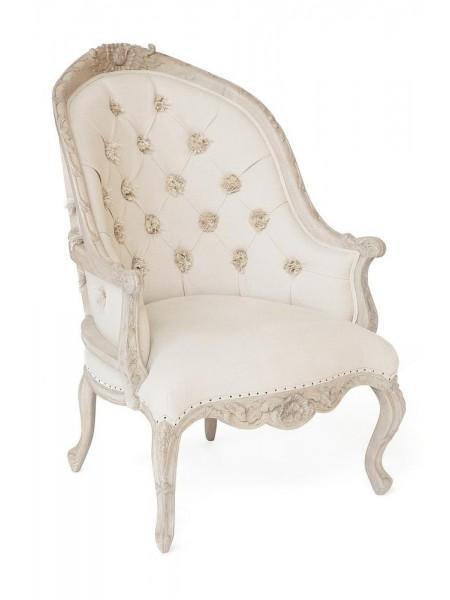 Кресло Secret De Maison LOUVRE ( mod. CHA 17-43 ) красное дерево/ткань хлопок, 105х76х78см, Натуральный Минди, ткань D.Dominic Beige