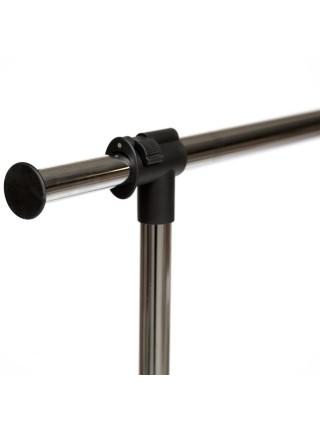 Вешалка NY-3294 металл, 84-125*43*102-167см, хром/черный