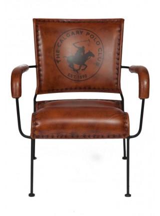 Кресло Secret De Maison MAJOR ( mod. M-14530 ) металл/кожа буйвола, 65*58*75, коричневый
