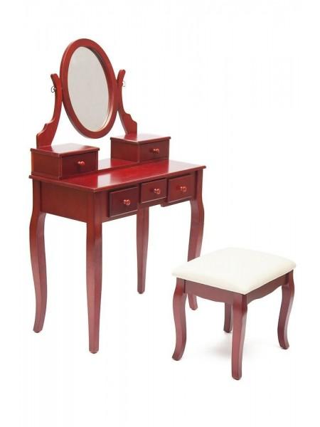 Туалетный столик с пуфом NY-V3023 Вишня