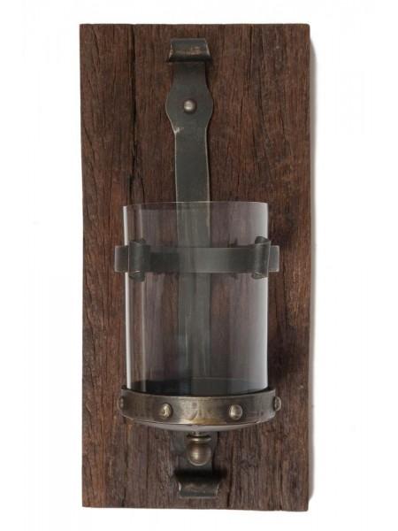 Подсвечник Secret De Maison LAURA ( mod. KI-5346 ) металл/дерево манго, 19*39*13, коричневый