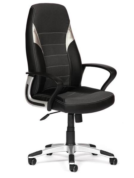 Кресло INTER кож/зам/ткань, черный/серый/серый, 36-6/207/14