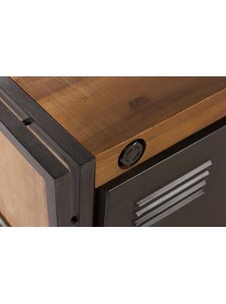 ТV тумба Secret De Maison CITY (mod. CTY L08 -130 ) 1 дверь, металл/дерево акация, 130х45х50см, коричневый дым (smoke brown B034)