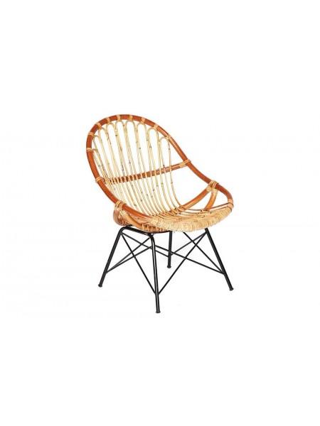 Кресло Secret De Maison Petunia (mod. 01 5088 SP KD/1-1) натуральный ротанг/металл, 80х61х66см, светлый мед/черный