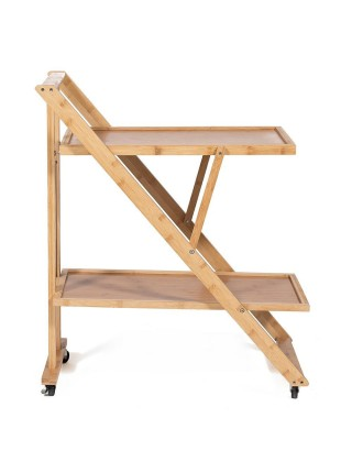 Столик сервировочный (mod. JWFU-3342) прессованный бамбук, 72х42х81,5см, натуральный