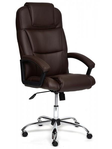 Кресло BERGAMO (хром) кож/зам, Коричневый, 36-36