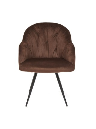 Кресло LIVORNO ( mod.1602 ) металл/ткань, 67х57х82см, коричневый вельвет