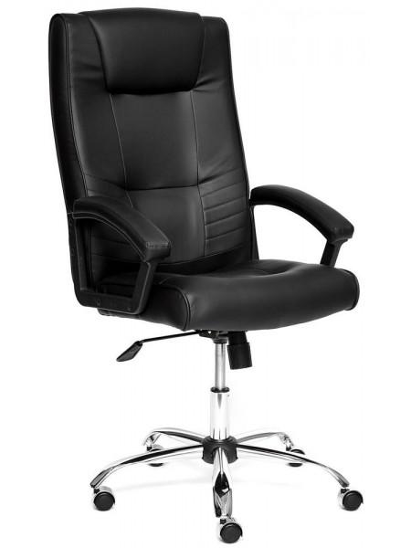 Кресло MAXIMA Хром кож/зам, Черный, 36-6