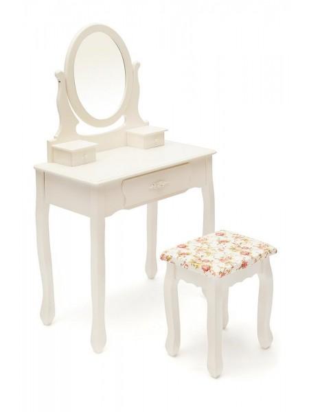 Туалетный столик с зеркалом и табуретом HX15-075 белый