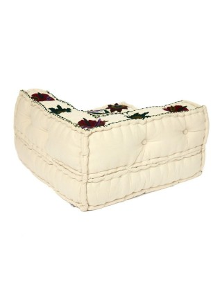 Модуль мягкий угловой Secret De Maison MAHARAJA (mod. 10235) cotton canvas sujani, 80х80х43см, белый с цветами