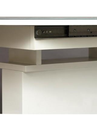 Стол COSMOS (mod.EDT-HE14) мдф high glossy, закаленное стекло, 140/180х80х76см, белый