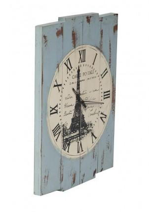 Часы Secret De Maison EIFEL ( mod. M-12247 ) дерево манго, 46х4х61см, синий антик